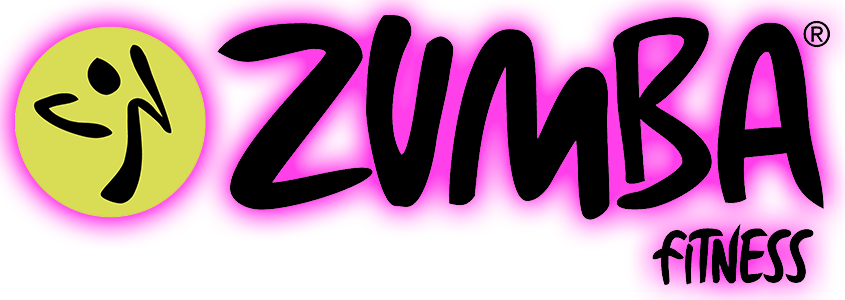 Zumbalogo Zumbafitness mit copyright und Pink