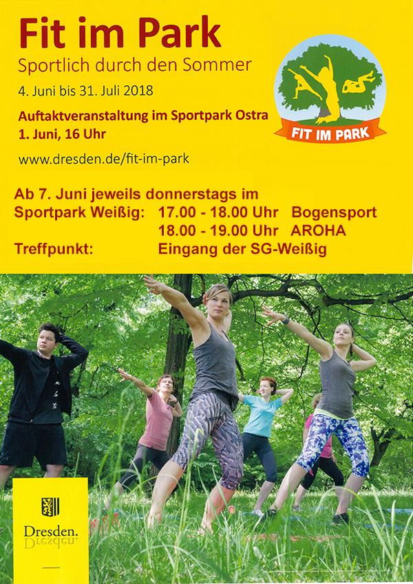 Fit im Park Kooperation Landeshauptstadt Dresden