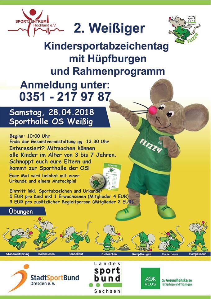 Kindersportabzeichen Flizzy Sportzentrum Hochland e.V. am 28.04.2018